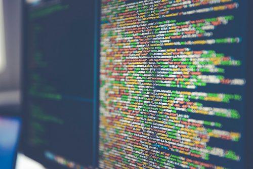 einige zeilen code auf einem bildschirm